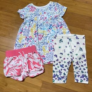 Lot of 3 Old Navy graphic floral pieces 12-18M